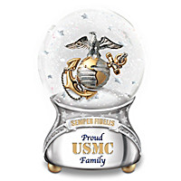 Proud USMC Family Glitter Globe