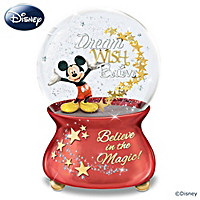 Mickey Mouse Believe In The Magic Glitter Globe