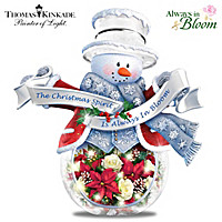 Holiday Spirit Blossoms Brightly Table Centerpiece