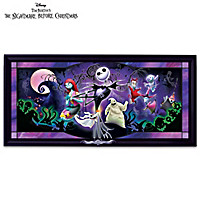 Disney Nightmare Before Christmas Stained-Glass Wall Decor