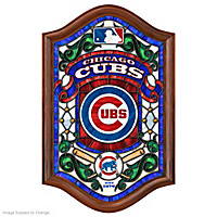 Chicago Cubs Illuminated Stained-Glass Wall Decor