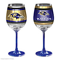 Gridiron Stars Baltimore Ravens Wine Glass Set