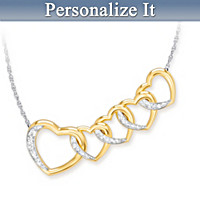 Links Of Love Personalized Diamond Necklace