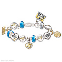 #1 Fan Carolina Panthers Super Bowl Charm Bracelet