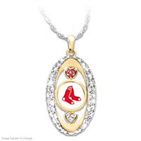 For The Love Of The Game Red Sox Pendant Necklace