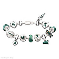 Go Spartans #1 Fan Charm Bracelet