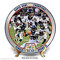 Super Bowl 50 Champions Broncos Collector Plate