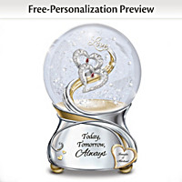 Loving You Today Tomorrow Always Personalized Glitter Globe
