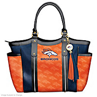Touchdown Broncos Tote Bag