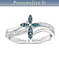 Joined In Faith Personalized Diamond Ring