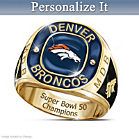 Denver Broncos Super Bowl Champions Personalized Ring