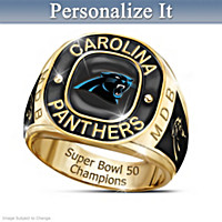 Carolina Panthers Super Bowl Champions Personalized Ring