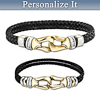 United By Love His And Hers Personalized Bracelet Set