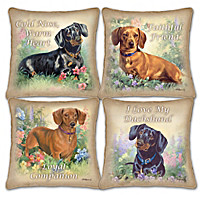 Delightful Doxies Pillow Set