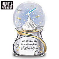Kisses For My Granddaughter Glitter Globe