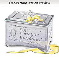 Granddaughter You Are My Sunshine Personalized Music Box