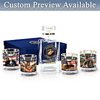Semper Fidelis Personalized Decanter Set