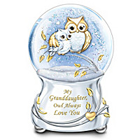 My Granddaughter, Owl Always Love You Glitter Globe