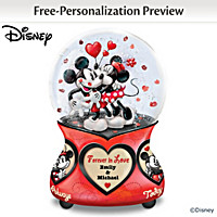 Disney Forever In Love Personalized Glitter Globe