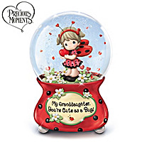 Precious Moments, Granddaughter Cute As A Bug Glitter Globe