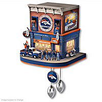 Denver Broncos Fan Celebration Cuckoo Clock