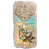 Life Is A Beach Wall Clock