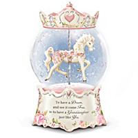 Granddaughter, You're A Dream Come True Glitter Globe