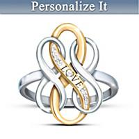 Infinite Love Personalized Diamond Ring