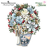 Thomas Kinkade Santa's Holiday Welcome Table Centerpiece