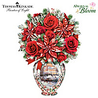 Thomas Kinkade The Colors Of Christmas Table Centerpiece
