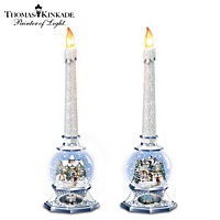 Thomas Kinkade Season Of Light Snowglobe Set