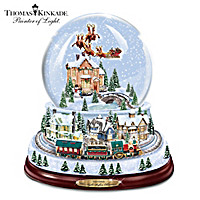 Thomas Kinkade The Night Before Christmas Village Snowglobe