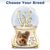 Dogs Leave Paw Prints On My Heart Glitter Globe