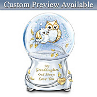 Granddaughter Owl Always Love You Personalized Glitter Globe