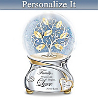 Family's Love Personalized Glitter Globe