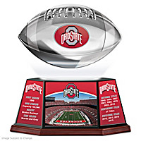 Ohio State Buckeyes Levitating Football Sculpture
