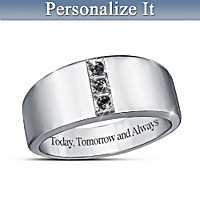 Forever And Always Personalized Diamond Ring