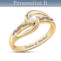 Indulge In Love Personalized Diamond Ring