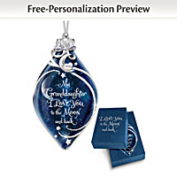 Granddaughter, I Love You To The Moon And Back Ornament