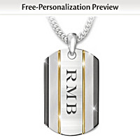 The Strength Of My Son Personalized Pendant Necklace