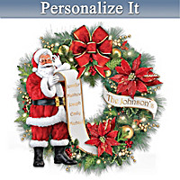Santa's Nice List Personalized Wreath