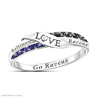 Go Ravens Diamond Ring