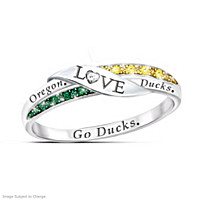 Go Ducks Diamond Ring
