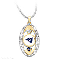 For The Love Of The Game Rams Pendant Necklace