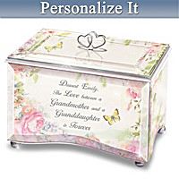 My Granddaughter, I Love You Personalized Glass Music Box
