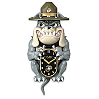 USMC Devil Dog Wall Clock