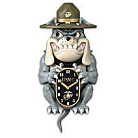 USMC Devil Dog Wall Clock