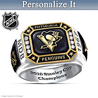 Penguins® Pride Personalized Commemorative Ring