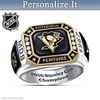 Penguins® Pride Personalized Commemorative Ring