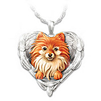 Pomeranians Are Angels Pendant Necklace